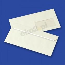 Koperty Blue Angel ( recykling szare) DL (110 x 220 mm) /HK/ okienko 45 x 90 mm, prawy dół
