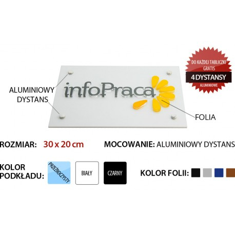 Szyld Tablica GRAWEROWANA reklamowa 30cm x 20cm