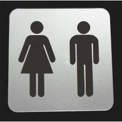 tabliczka na drzwi WC Toaleta Laminat GRAWER 8x8cm