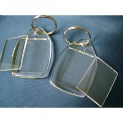 Brelok z akrylu - Prostokąt mały - 50 szt.