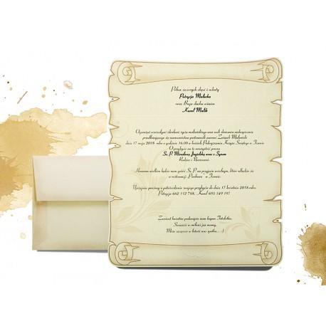 20 Szt Zaproszenia ślubne Postarzane Zawiadomienia Na ślub Z