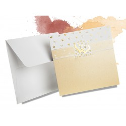 Tłoczone złote perłowe zaproszenia ślubne zawiadomienia na ślub - MODEL 0219