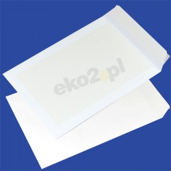 Koperty CARD PACK z tylną stroną z kartonu - B-4 HK biała