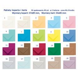Pakiety: koperta + karta - w opakowaniu 40 szt.