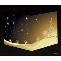 50 szt. - Kartki świąteczne z życzeniami i nadrukiem logo firmy