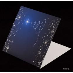 200 szt. - Kartki świąteczne z życzeniami i nadrukiem logo firmy - różne wzory
