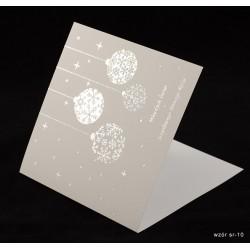 200 szt. - Kartki świąteczne z życzeniami i nadrukiem logo firmy + złocenie - różne wzory