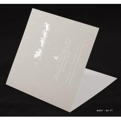 50 szt. - Kartki świąteczne z życzeniami i nadrukiem logo firmy + złocenie - różne wzory