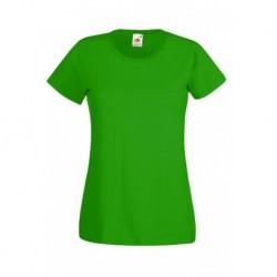 Koszulka damska ZIELONA (KELLY GREEN) (47) - Fruit of the Loom (Valueweight) 165g (61-372) z dowolnym nadrukiem