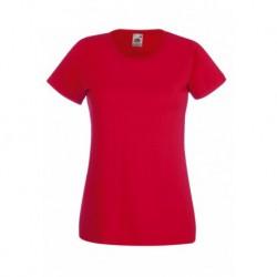 Koszulka damska CZERWONA (40) - Fruit of the Loom (Valueweight) 165g (61-372) z dowolnym nadrukiem