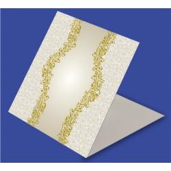 20 szt. Zaproszenia na ślub - wzór 30 srebrzenie lub złocenie