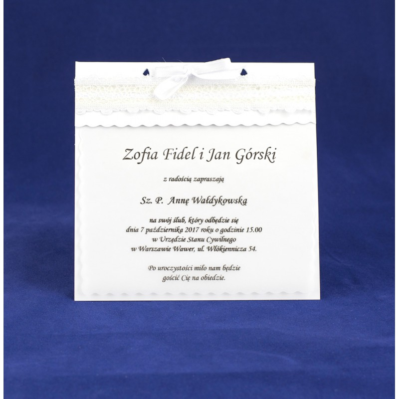 20 Szt Zaproszenia Na ślub Wzór 33 Eko2